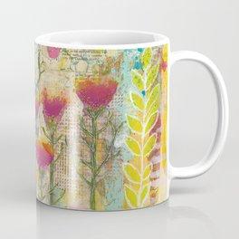 Purple Coneflower and Poppies Coffee Mug