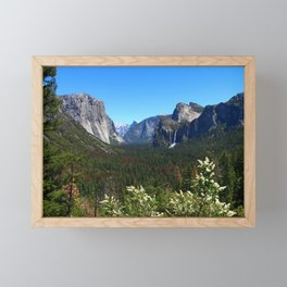 Bridal Veil Falls From Tunnel View Point - Yosemite Valley Framed Mini Art Print