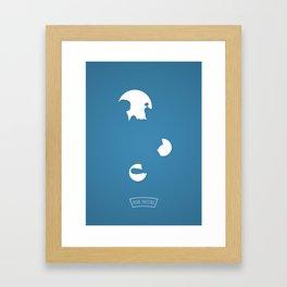 P....E Framed Art Print