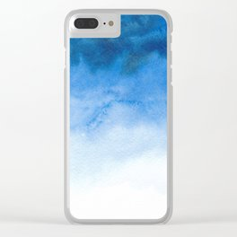 Handpainted watercolor wash Clear iPhone Case