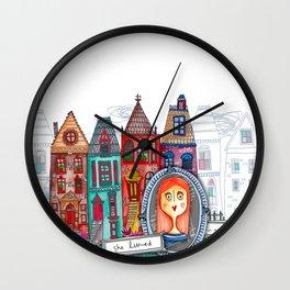 She Lived. White. Wall Clock