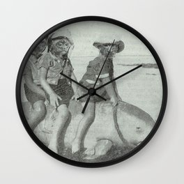 Monkey Manatee  Wall Clock