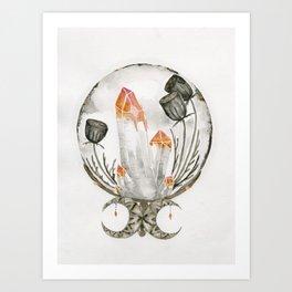 Dark night Crystal Ball Art Print