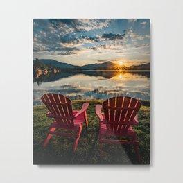 Sunrise over Lake Placid & The Adirondack High Peaks Metal Print