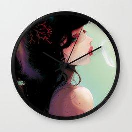 La Cantatrice en greve... Wall Clock