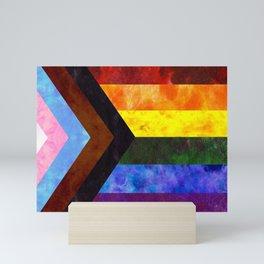 Progress Pride Quilt Mini Art Print