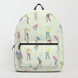 Watercolor Golfers // Goldenrod Backpack