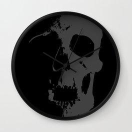 Skull - Grey Wall Clock