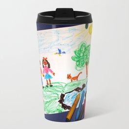 Wax drawing Travel Mug