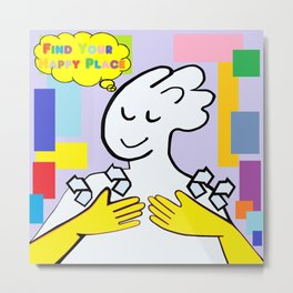 ASL Find Your Happy Place Metal Print