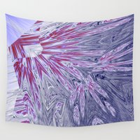 ice Wall Tapestries featuring ice by donphil