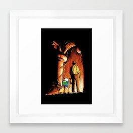 Adventure With Master Framed Art Print