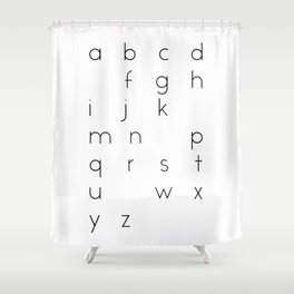 LOVE | Alphabet Games | Letter Art | Typography Shower Curtain