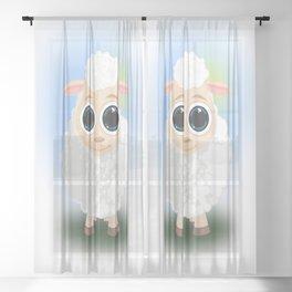 White Sheep Sheer Curtain