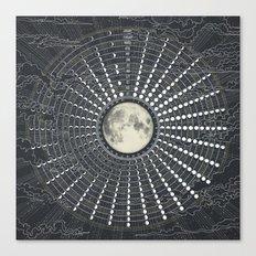 Phases // Moon Calendar 2017 Canvas Print