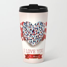 Love heart in pink Travel Mug
