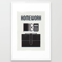 Homework Framed Art Print