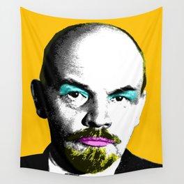 Ooh Mr Lenin - Orange Wall Tapestry