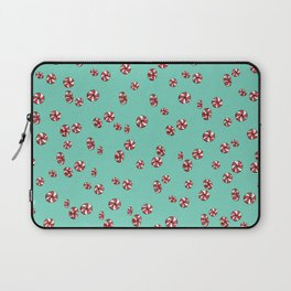 Peppermint Candy in Aqua Laptop Sleeve