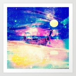 Space boat Art Print
