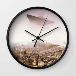 SW Imperial Destroyer over Manhatan. Wall Clock