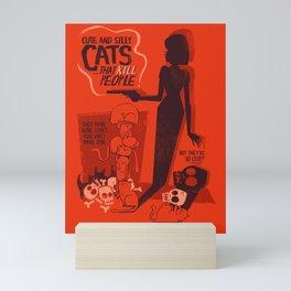 Cat Movie - orange Mini Art Print
