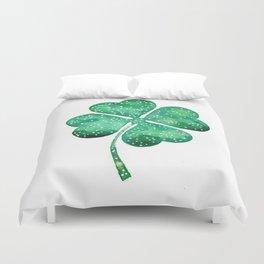 4 leaf clover Duvet Cover