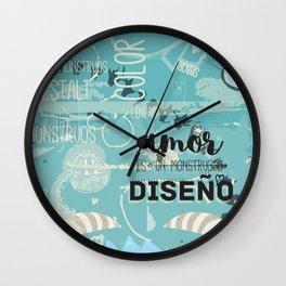El amor es un monstruoso diseño! Wall Clock