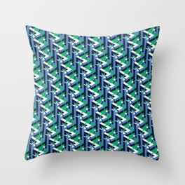 Triangle Bow Blue Throw Pillow