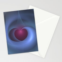 Take Care of My Heart Fractal Stationery Cards