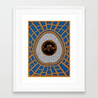 brain Framed Art Prints featuring Brain by Canson City