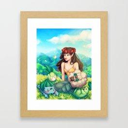 Fairy Grass Type Framed Art Print