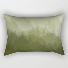 green forest fog Rectangular Pillow