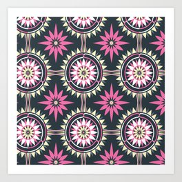 Daisy Chain (Patterned) Art Print