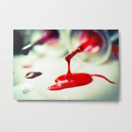 deep red Metal Print