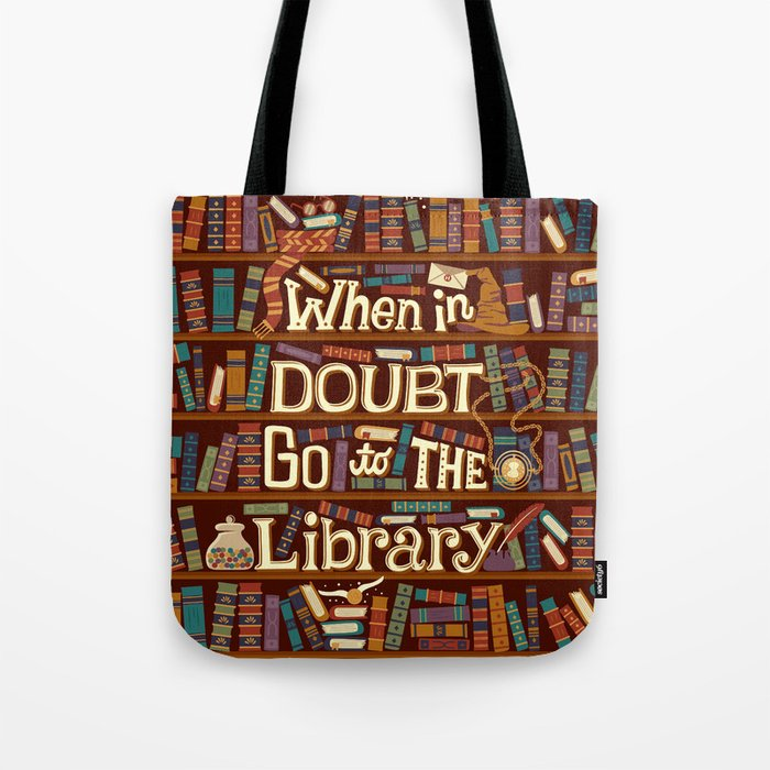 Go to the library Tote Bag
