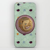 ganesh iPhone & iPod Skins featuring Ganesh by S*TRU