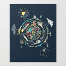 Running Like Clockworld Canvas Print