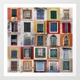 Twenty Five Windows Art Print
