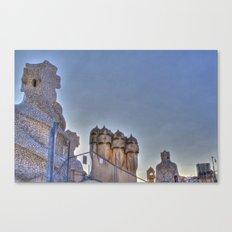 Casa Milà rooftop, Barcelona, Spain Canvas Print