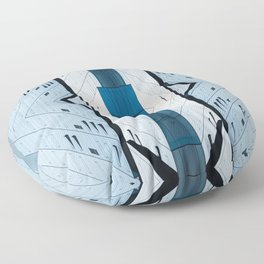 Shadow Play Abstract Floor Pillow