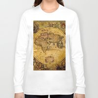 vintage map Long Sleeve T-shirts featuring VintaGe Map by ''CVogiatzi.