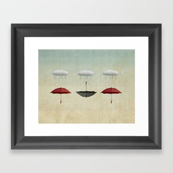 the umbrella filleth Framed Art Print
