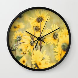 Wild About Saffron Wall Clock