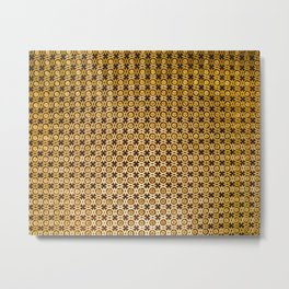 Gold and wood carving pattern Metal Print
