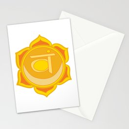 Sacral Chakra Svadhishthana Chakra Stationery Cards