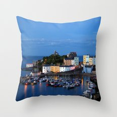 TENBY HARBOUR. PEMBROKESHIRE.WALES. Throw Pillow