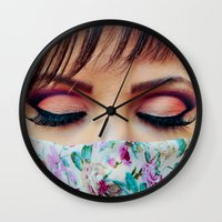 make up Wall Clocks featuring Make Up by Eduard Leasa Photography