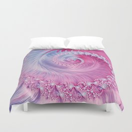 Crystal Spiral Abstract Duvet Cover