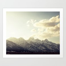 Grand Tetons at Sunset Art Print